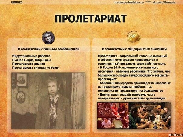 Пролетариат википедия