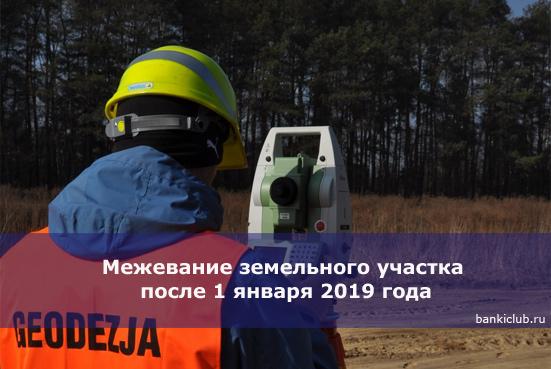 Межевание земельного участка в 2019 году