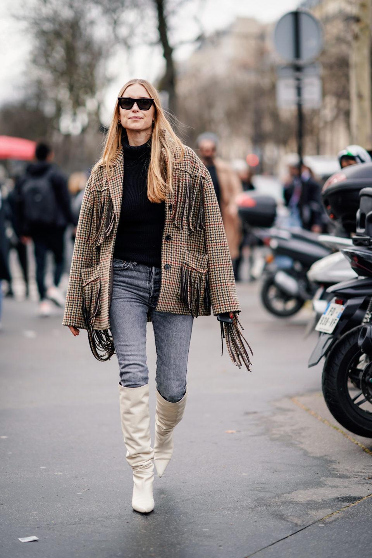 Джинсы скинни и джеггинсы: модные образы