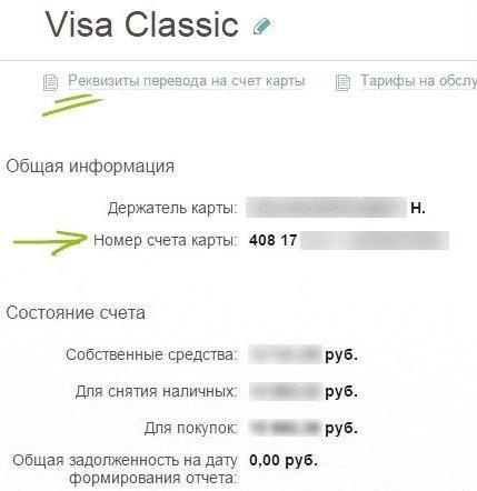 Как узнать лицевой счет карты сбербанка