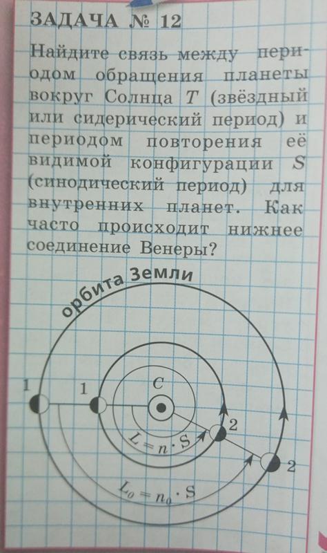 Сидерический и синодический периоды обращения объектов по своим орбитам |