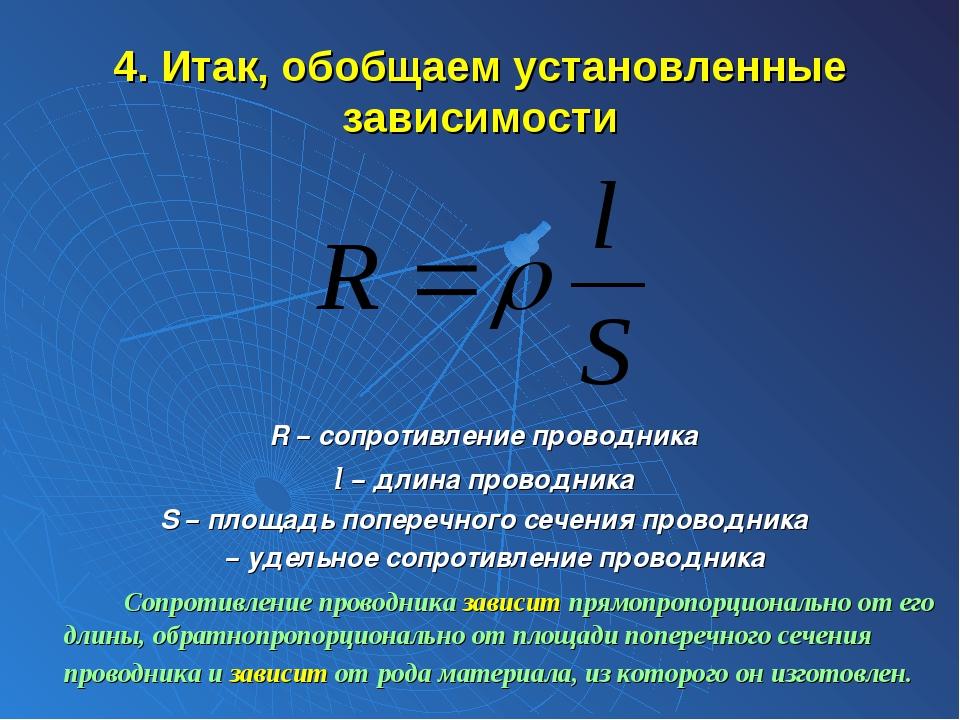 Удельное сопротивление проводника: формула, сопротивление разных материалов