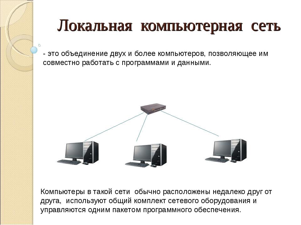 Что такое локальная сеть?