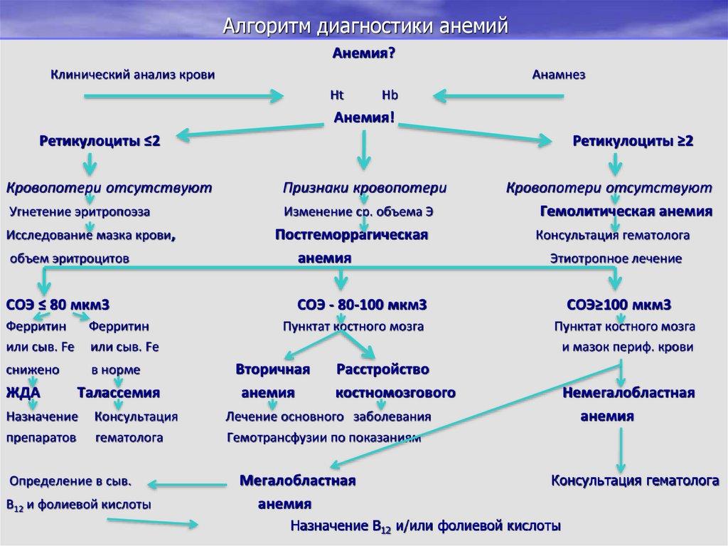 Анемия: опасность заболевания, виды, диагностика и лечение | рейтинг клиник