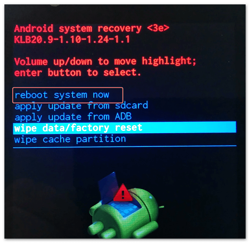 Инструкция на русском языке к android system recovery 3e: основные функции режима