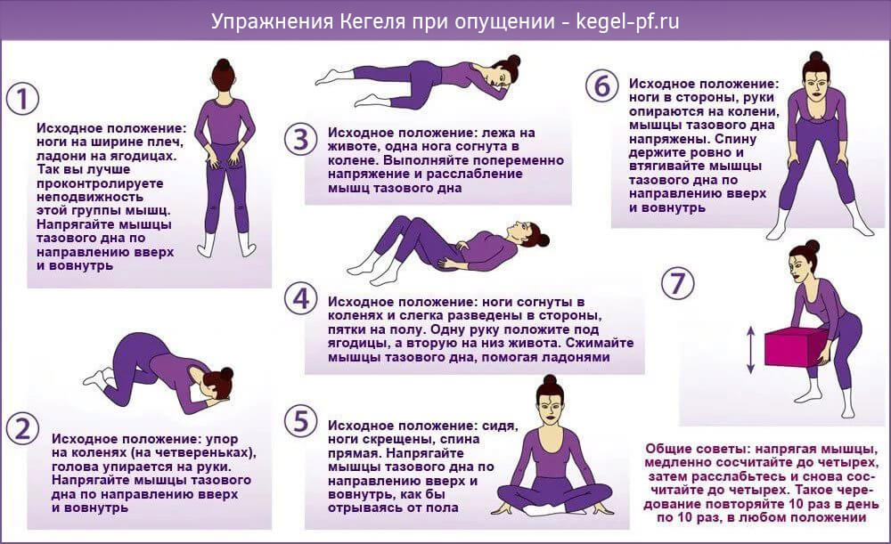 Упражнения кегеля для женщин – помощь при опущении матки, недержании мочи