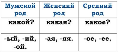 Род имен существительных в русском языке, как определить, примеры женского, мужского и среднего рода, список исключений