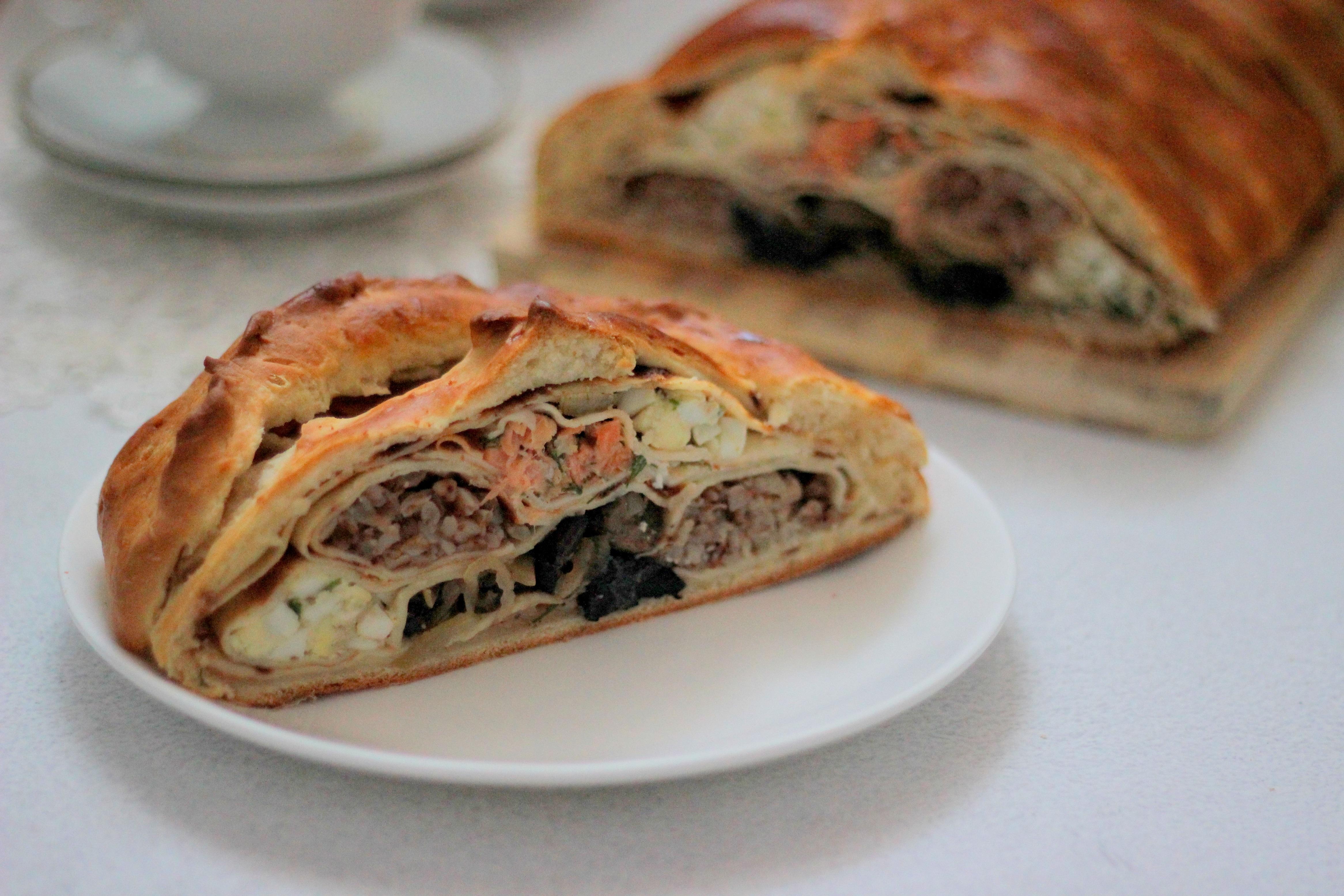 Кулебяка с мясом рецепт с фото пошагово - 1000.menu