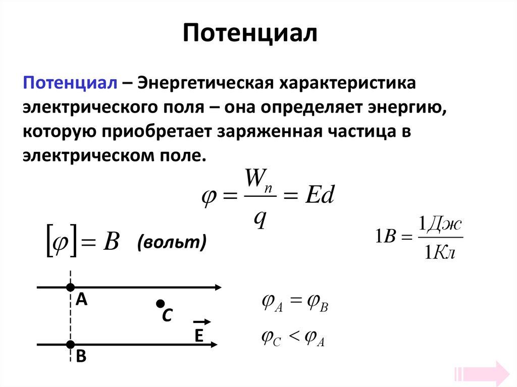 Потенциал, работа электростатического поля. потенциальная энергия, разность потенциалов, принцип суперпозиции. тесты, формулы - учебные курсы