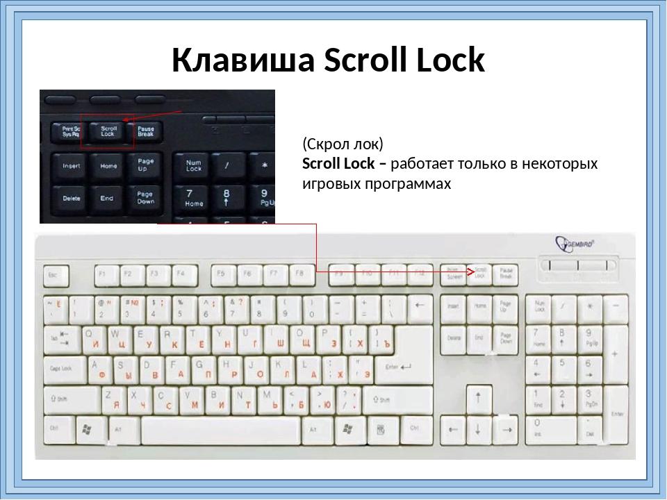 Scroll lock что это такое на клавиатуре | monews.ru