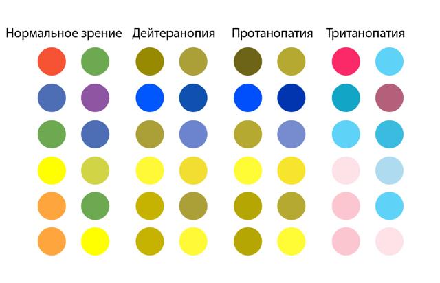 Дальтонизм — виды, интересные факты и тест на диагностику с картинками