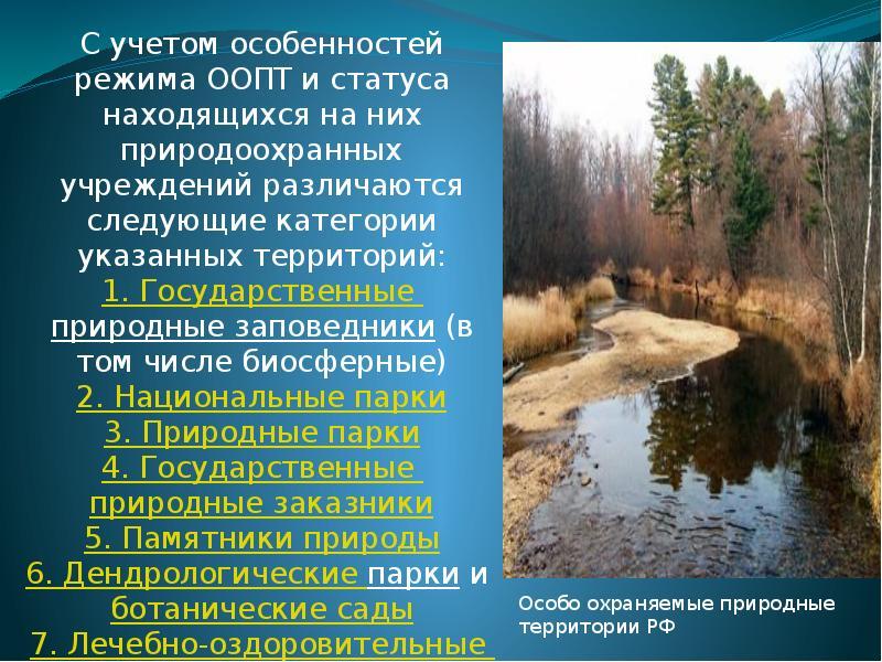 Сводная информация   оопт россии