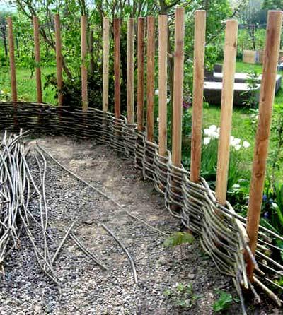 Плетня (46 фото): как сделать плетеный забор на даче своими руками, декоративная изгородь из лозы в ландшафтном дизайне