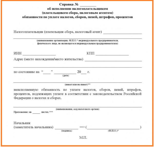Классификатор налоговой документации (кнд)