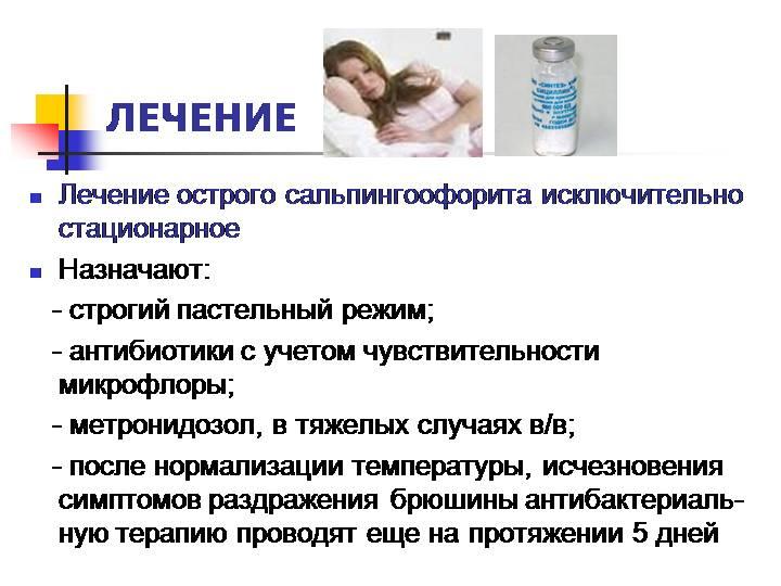 Схемы лечения сальпингоофорита (аднексита): свечи, антибиотики, уколы, препараты