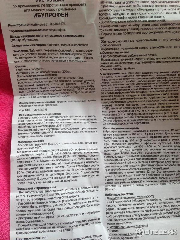Ибупрофен — инструкция по применению, описание, вопросы по препарату