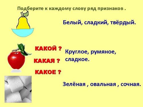 Что такое признак предмета правило. что такое признак предмета в русском языке