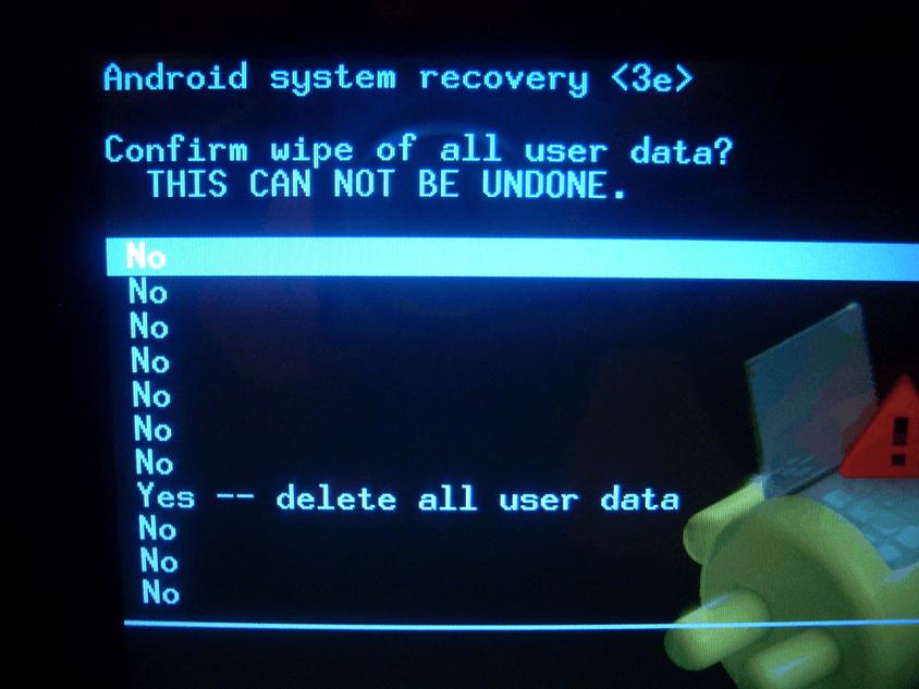 Wipe data factory reset ne demek nedir?