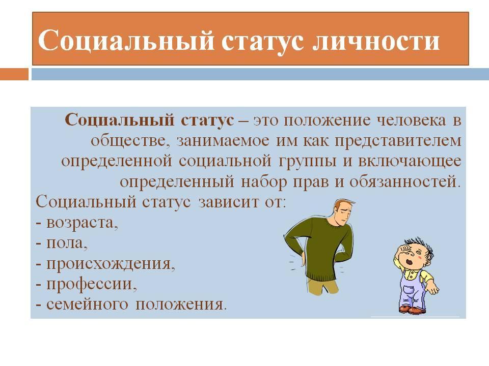 Урок 6: социальные статусы и нормы - 100urokov.ru
