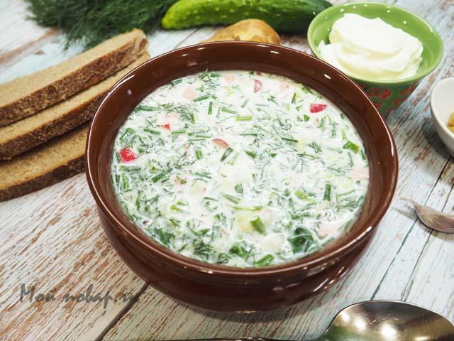 Окрошка — вариации классического холодного супа в любое время года