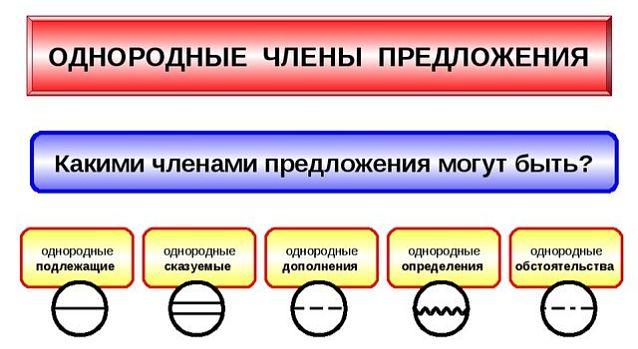 Однородные члены предложения – это… (25 примеров)