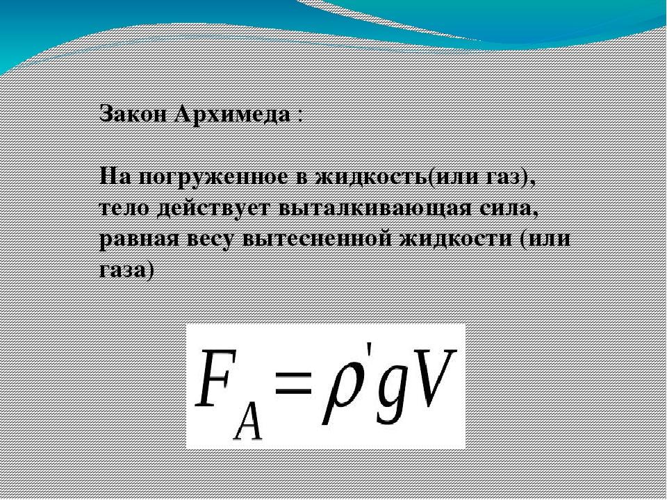 Архимедова сила: причина возникновения, формула и использование в технике и природе