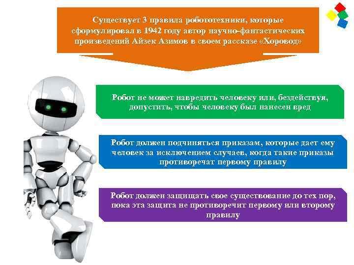 Законы робототехники в интерфейсе