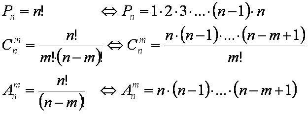 Комбинаторика | математика - онлайн помощь