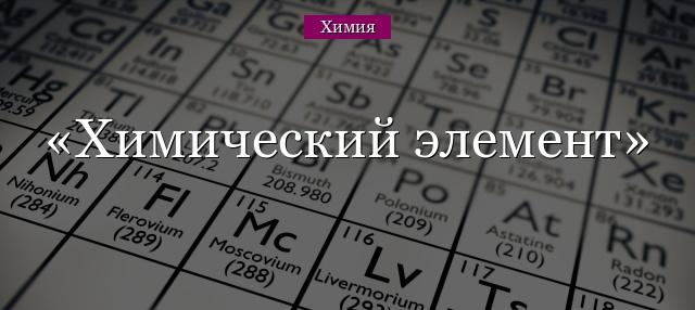 Таблица менделеева, химические элементы
