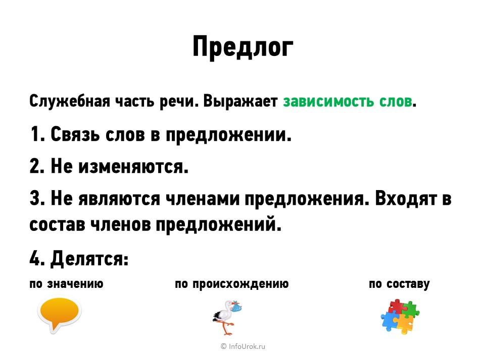 Что такое предлог в русском языке