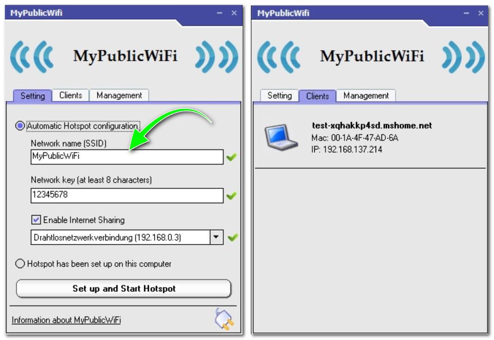Настройка точки доступа вай фай для подключения к интернету