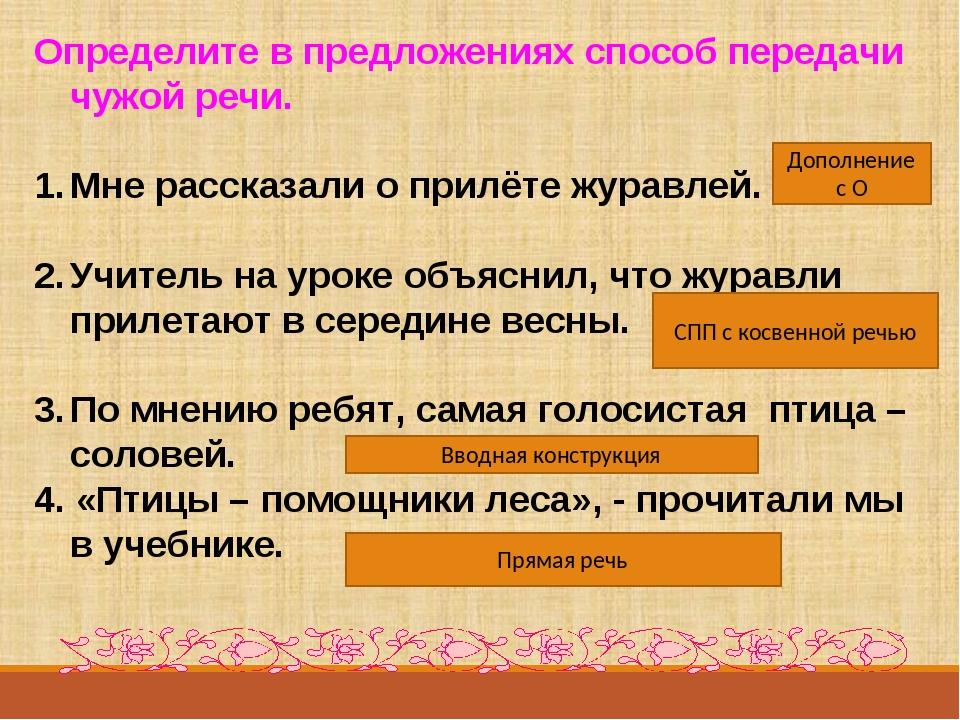 § 224. формы чужой речи