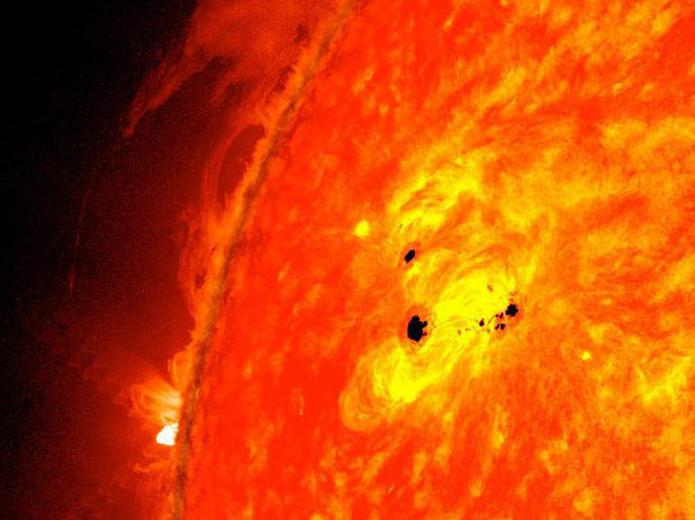 Солнечные пятна — википедия. что такое солнечные пятна