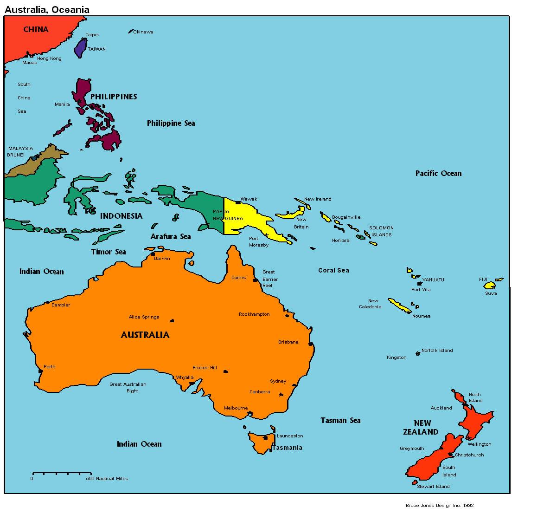 География океании: характеристика региона, климат, животные, растения, население и страны