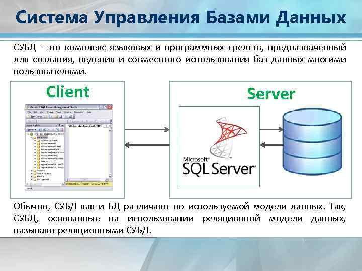 Функции систем управления базами данных (субд)   bestprog