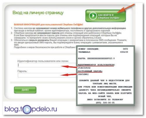 Что такое идентификатор пользователя сбербанк онлайн?