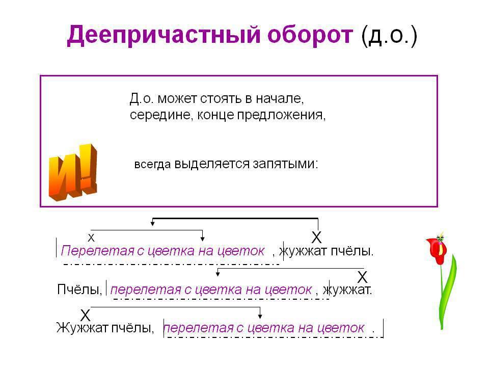 Что такое деепричастный оборот: конкретные примеры