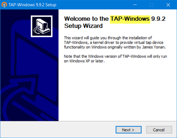 Fix tap windows adapter v9 error with these solutions