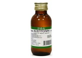 Что такое асептолин 90 состав. асептолин: состав, применения, инструкции