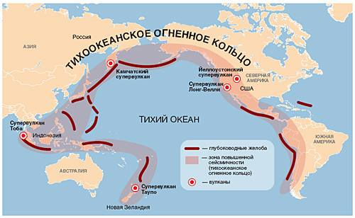 Где находится тихоокеанский сейсмический пояс на карте. сейсмические пояса планеты. что мы узнали