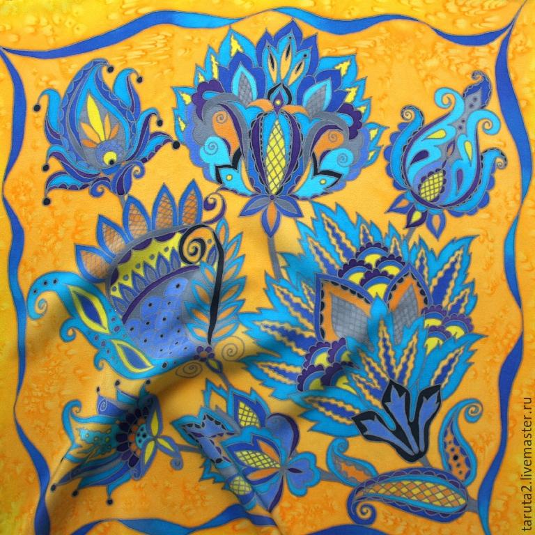 Батик - что это такое, описание техники росписи по ткани, необходимые материалы и инструменты