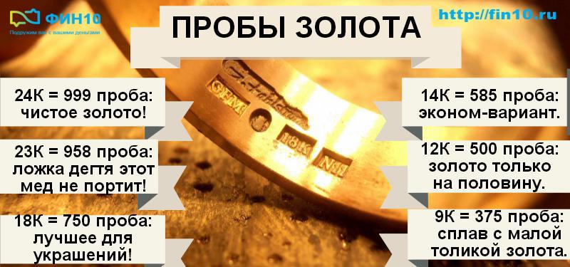 Золото 10 карат - какая это проба, плюсы и минусы, сколько стоит