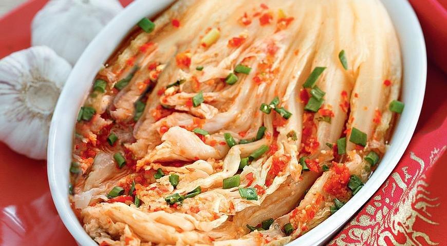Острая капуста типа кимчи – кулинарный рецепт