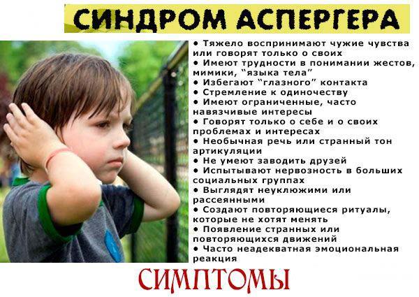 Синдром аспергера у взрослых и детей - симптомы и признаки