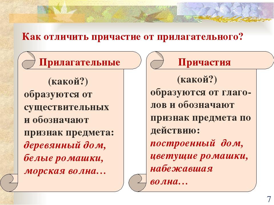 Учебник нашего времени: отыменные и отглагольные прилагательные (задание а7)