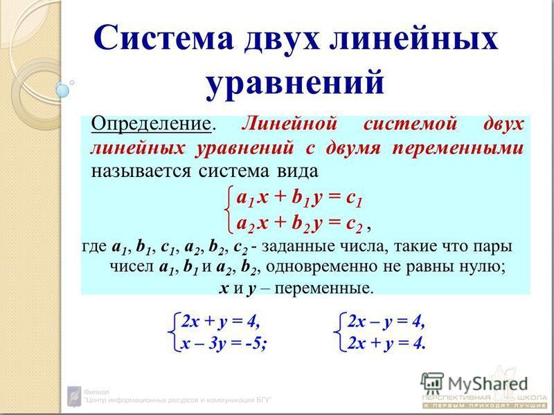 Уравнение и его корни: определения, примеры