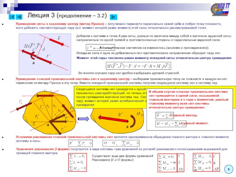 Равнодействующая системы сходящихся сил - лекции и примеры решения задач технической механики