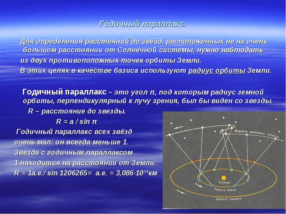 Годичный звёздный параллакс — википедия с видео // wiki 2