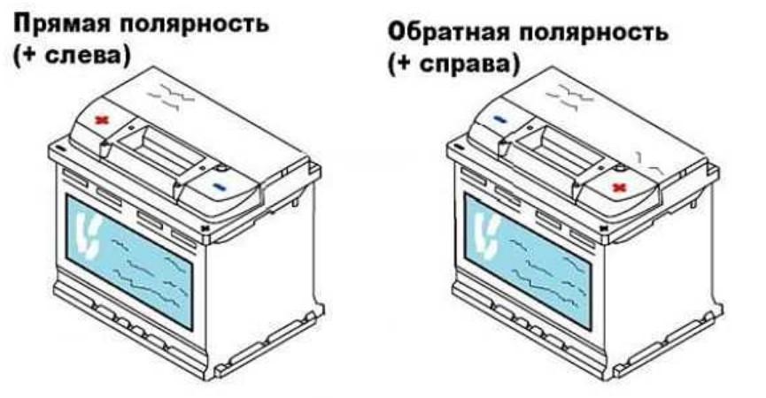 Как определить полярность аккумулятора:  прямая или обратная?