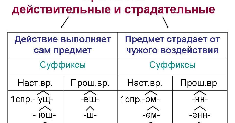 Страдательное причастие в русском языке: правила образования, правописания, отличие от других частей речи :: syl.ru